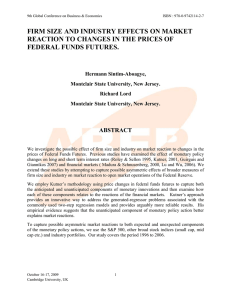 Firm Size and Industry Effects on Market Reaction to Changes in the prices of Federal Funds Futures