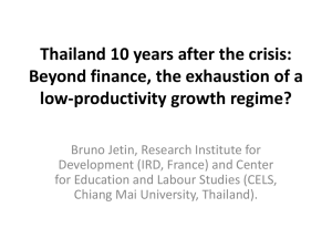 Thailand 10 years after the crisis: low-productivity growth regime?