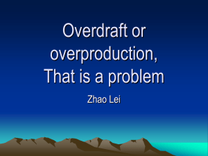 Overdraft or overproduction, That is a problem Zhao Lei