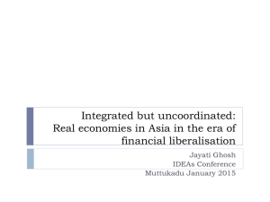 Integrated but uncoordinated: Real economies in Asia in the era of