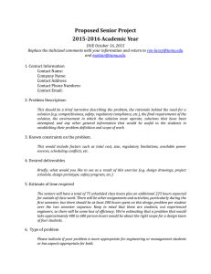2015 2016 Capstone Projects Request Form