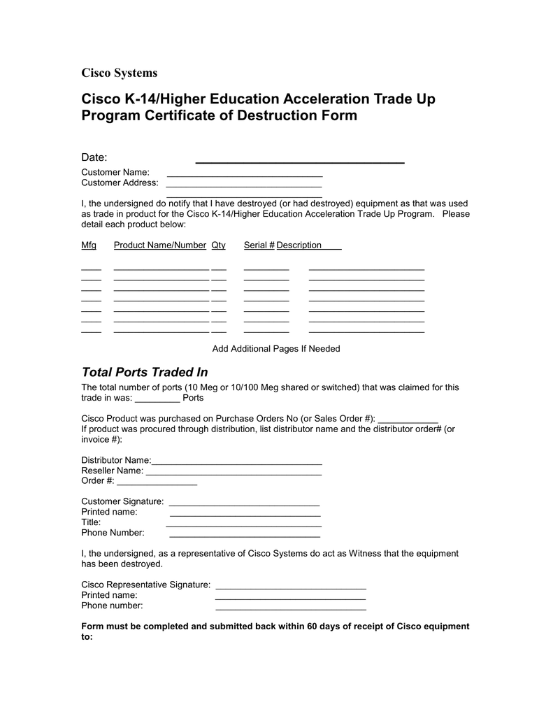 Cisco K-14/Higher Education Acceleration Trade Up Program