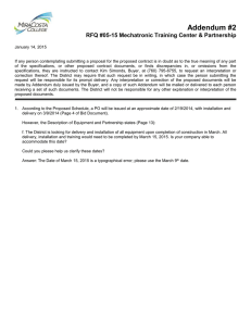 City of Hamilton Tender for the Construction of the New