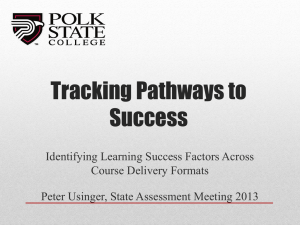 Tracking Pathways to Success