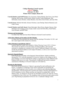 College Planning Council Agenda Minutes February 23, 2012 Winter Park Campus, Room 242