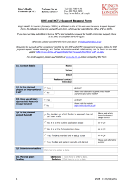 KHE and KCTU Support Request Form