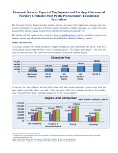 Florida Department of Education Economic Security Report Summary