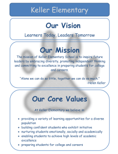 Our Vision Our Mission Keller Elementary