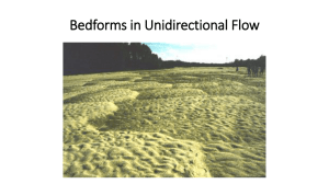 Bedforms in Unidirectional Flow