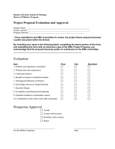 Project Proposal Evaluation and Approval