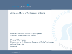Animated flow of Rotterdam citizens slides