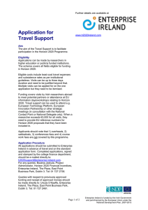 Application for Travel Support
