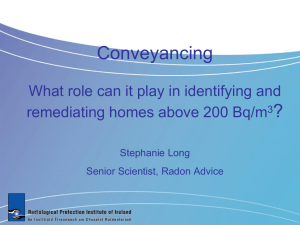 Download 'Radon and Conveyancing', ppt, 437kb