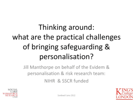 Risk, personalisation and mental capacity in practice (ppt, 1 MB)