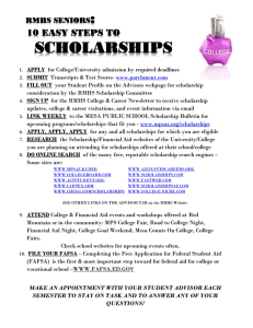 10 easy steps to scholarships