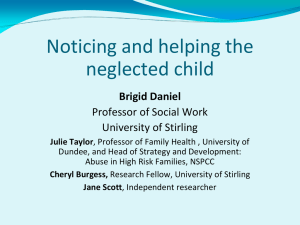 'Noticing and helping the neglected child' (ppt, 1 MB)
