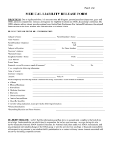 HOSA Medical Forms
