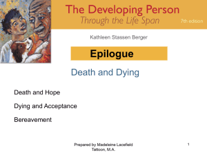 Epilogue Death and Dying Death and Hope Dying and Acceptance