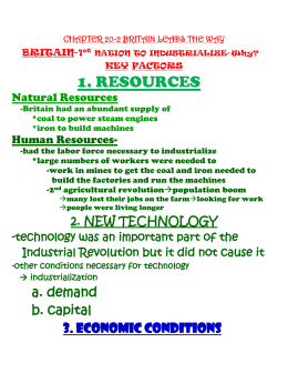 1. RESOURCES Natural Resources  Human Resources-