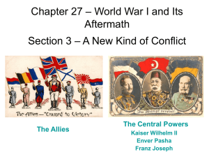 – World War I and Its Chapter 27 Aftermath