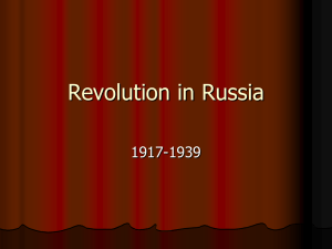 Revolution in Russia 1917-1939