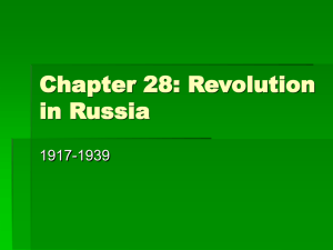 Chapter 28: Revolution in Russia 1917-1939