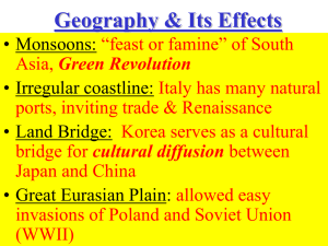 Geography & Its Effects