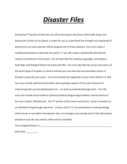 Disaster Files