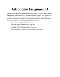 Astronomy Assignment 1