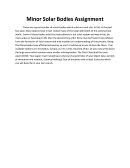 Minor Solar Bodies Assignment