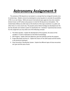 Astronomy Assignment 9