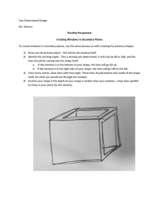 Two Dimensional Design Ms. Schnurr Paraline Perspective