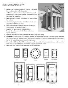 AP ART HISTORY: SHMERYKOWSKY GREEK ARCHIECTURE TERMS abacus