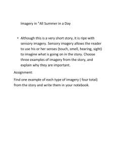 "Imagery in ""All Summer in a Day"