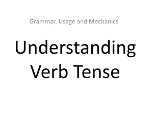 Understanding Verb Tense Grammar, Usage and Mechanics