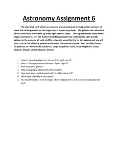 Astronomy Assignment 6