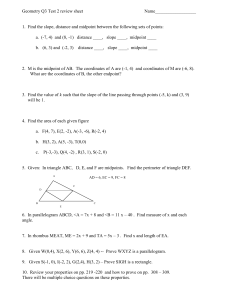 Geometry Q3 Test 2 review sheet  Name__________________