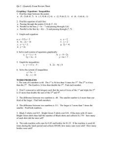 Qtr 2 - Quarterly Exam Review Sheet