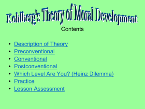 Contents • Description of Theory Preconventional