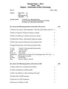 Sample Paper – 2011 Class – XII