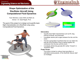 Shape Optimization of the DiscRotor Aircraft Using Computational Fluid Dynamics