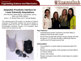 Adaptable Prosthetic Interface for Lower Extremity Amputations Team Photo Here