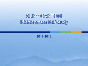 SUNY CANTON Middle States Self-Study 2011-2013