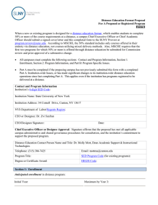 Distance Education Format Proposal For A Proposed or Registered Program Form 4