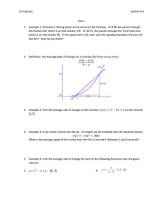 CP Calculus  Section 0.4 Part I: