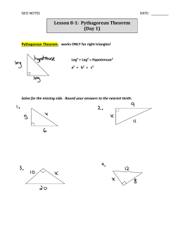 images about Pythagorean Theorem on Pinterest   Activities      When three whole numbers satisfy the Pythagorean Theorem  they are called Pythagorean Triples  For example          is a Pythagorean Triple because eight