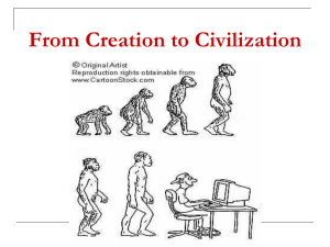 From Creation to Civilization