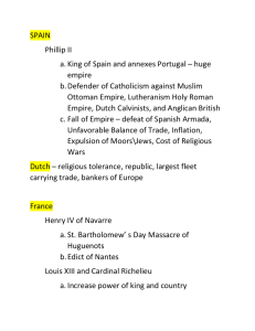 SPAIN  Phillip II a. King of Spain and annexes Portugal – huge