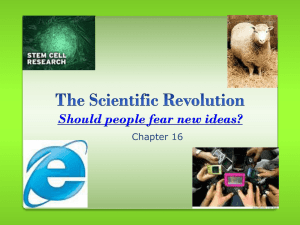Should people fear new ideas? Chapter 16