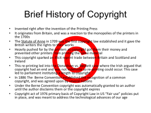 Brief History of Copyright